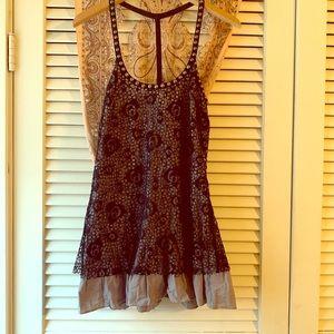 Free People 🥀 Lace Studded Tunic Mini Dress